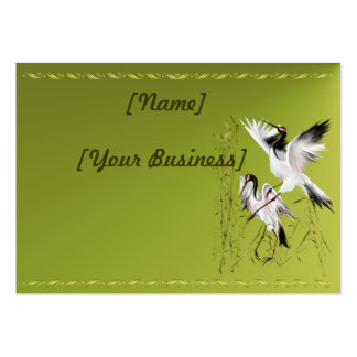 Two Cranes In Bamboo profile card horizontal Business Card