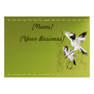 Two Cranes In Bamboo profilecard_chubby_ Business Card Template