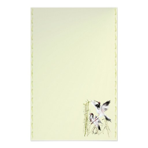 Two Cranes In Bamboo stationary Stationery