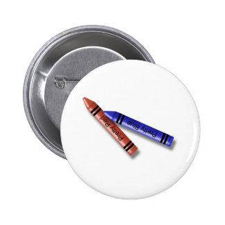 Two Crayons 2 Inch Round Button