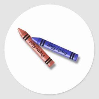 Two Crayons Classic Round Sticker