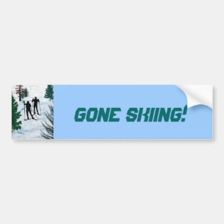 Two Cross Country Skiers Bumper Sticker