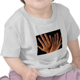 Two crossed hands t shirts