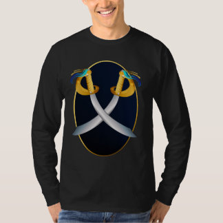 Two Crossed Pirate Cutlass Oval Shirts