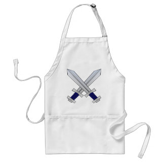Two Crossed Swords Adult Apron