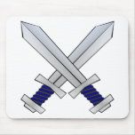 Two Crossed Swords Mouse Pad