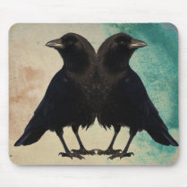 Two Crows Art Mouse Pad
