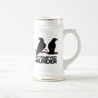 Two Crows = Attempted Murder Beer Stein