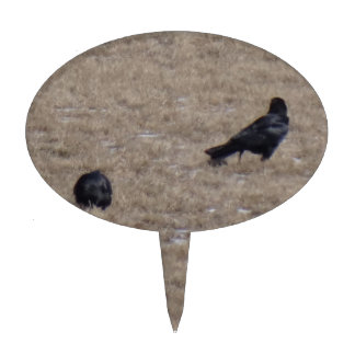 Two Crows Cake Topper