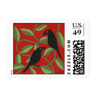 two crows for joy postage