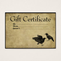 Two Crows- Prim Gift Certificate Cards