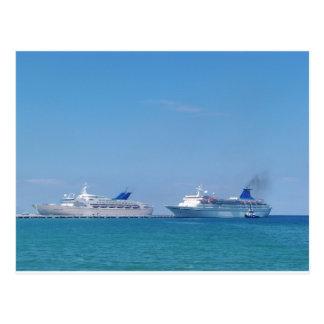 Two Cruise Ships Postcard