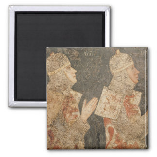 Two crusaders of the Minutolo family 2 Inch Square Magnet