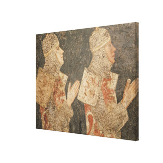 Two crusaders of the Minutolo family Canvas Print