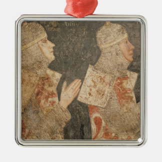 Two crusaders of the Minutolo family Metal Ornament