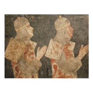 Two crusaders of the Minutolo family Postcard