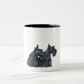 Two Curious Scottish Terriers Coffee Mugs