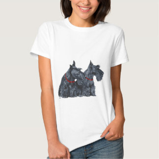 Two Curious Scottish Terriers T-Shirt