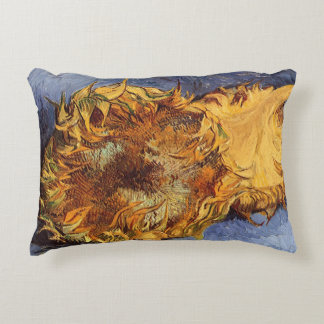 Two Cut Sunflowers by Vincent van Gogh Accent Pillow
