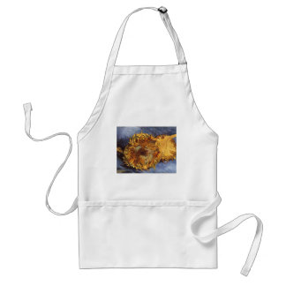 Two Cut Sunflowers by Vincent van Gogh Adult Apron