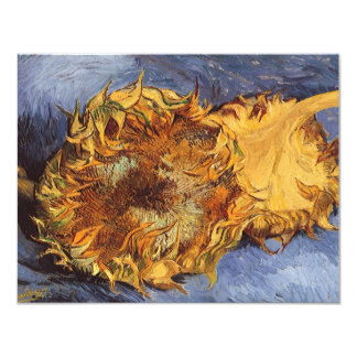 Two Cut Sunflowers by Vincent van Gogh Card