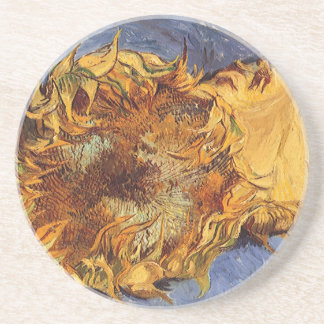Two Cut Sunflowers by Vincent van Gogh Coasters