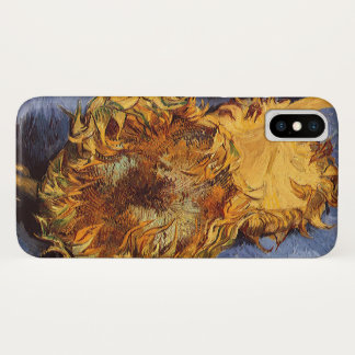 Two Cut Sunflowers by Vincent van Gogh iPhone X Case
