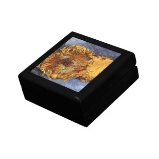 Two Cut Sunflowers by Vincent van Gogh Keepsake Box