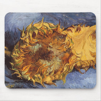 Two Cut Sunflowers by Vincent van Gogh Mouse Pad