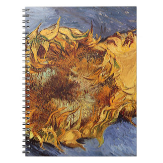 Two Cut Sunflowers by Vincent van Gogh Notebook