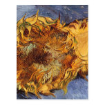 Two Cut Sunflowers by Vincent van Gogh Postcard