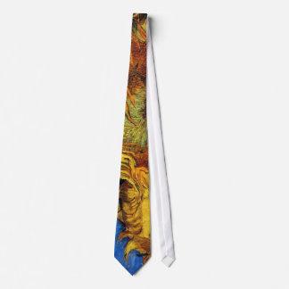 Two Cut Sunflowers Van Gogh Fine Art Tie