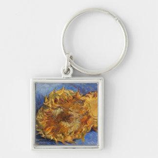 Two Cut Sunflowers, Vincent Van Gogh Keychain