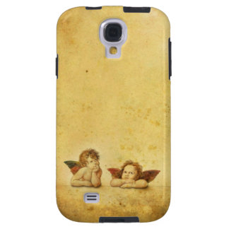 Two cute baby angels painting galaxy s4 case
