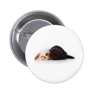 Two cute baby bunnies 2 inch round button