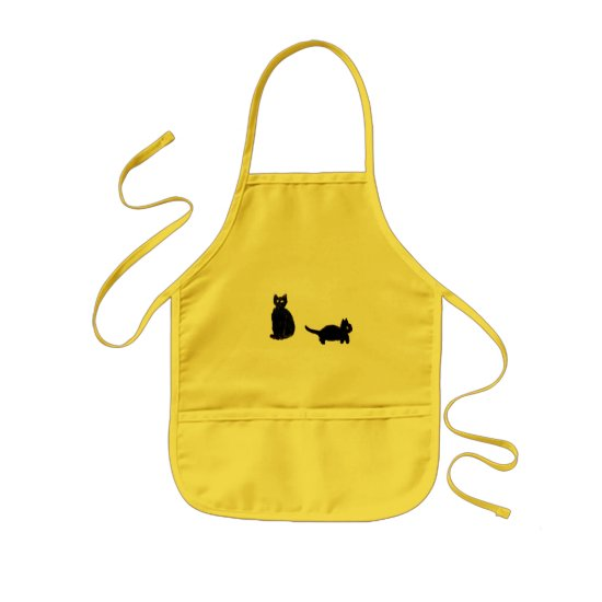 Two Cute Black Cats Kids' Apron