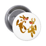 Two Cute Bouncy Cartoon Kangaroos Button