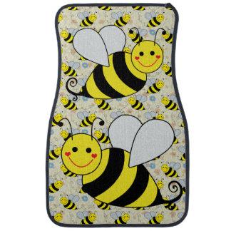 Two Cute Bumble Bees Car Mat