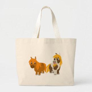Two Cute Cartoon Ponies custom Bag