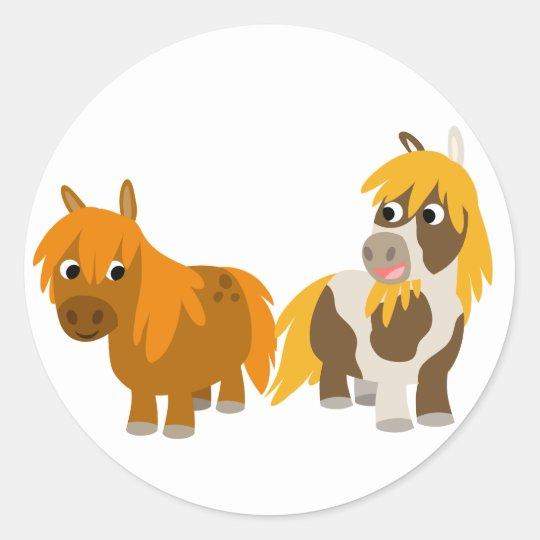 Two Cute Cartoon Ponies sticker