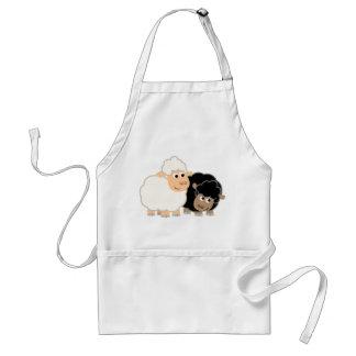 Two Cute Cartoon Sheep Cooking Apron