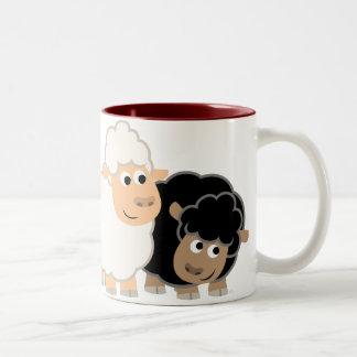 Two Cute Cartoon Sheep Mug