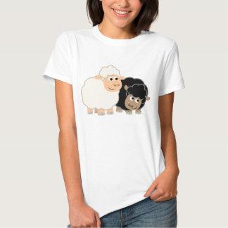 Two Cute Cartoon Sheep Women T-Shirt