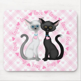Two Cute Cats in Love Mouse Pad