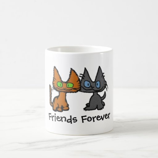 Two Cute Cats Sitting Together Mug