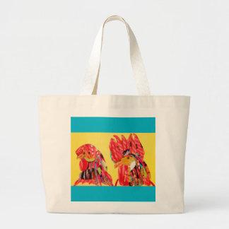Two Cute Chicken Design Tote Bag