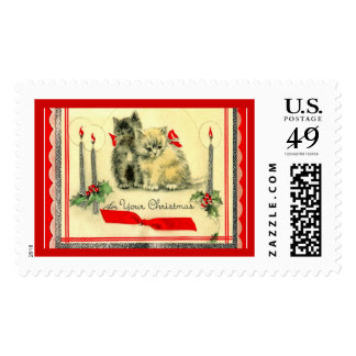 Two Cute Christmas Kittens Postage