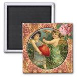 Two Cute Cupids Vintage Victorian Custom Magnet