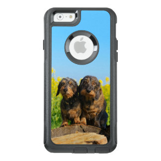 Two Cute Dachshund Dogs Dackel Photo - Commuter OtterBox iPhone 6/6s Case
