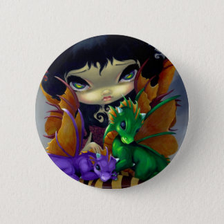"""Two Cute Dragonlings"" Button"